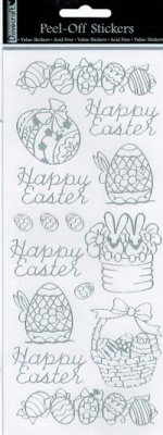 Dovecraft Peel Off Outline Sticker Silver Easter