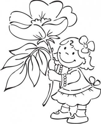 Marianne Design Elines Flower Girlz Clear Stamp - Wild Rose