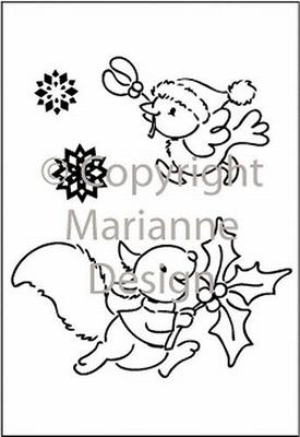 Marianne Design Elines Clear Stamp Set - Hurry Home