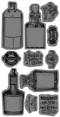 Graphic 45 Cling Mounted Stamp Set - Olde Curiosity Shoppe 2