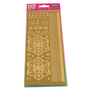 Anitas Outline Stickers Sticker Retro Flower & Borders - Gold