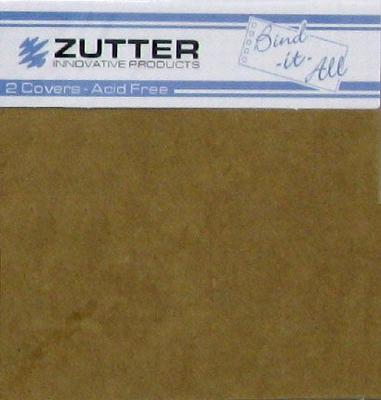 "Zutter Bind-It-All 2.8mm Chipboard Covers 6""x6"" - Kraft (2 pack)"