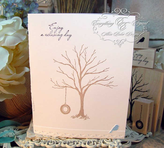 Impression Obsession Rubber Stamp Solid Tree