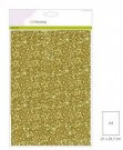 CraftEmotions Glitter Paper - Gold (5 sheets)