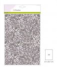 CraftEmotions Glitter Paper - Silver (5 sheets)