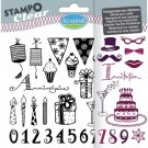 Stampo Clear Clearstamp Set - Adult Birthday