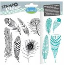 Stampo Clear Clearstamp Set - Feathers