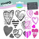 Stampo Clear Clearstamp Set - Hearts