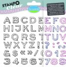 Stampo Clear Clearstamp Set - Alphabet Neo