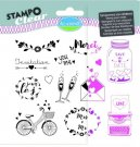 Stampo Clear Clearstamp Set - Mariage