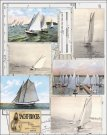 Penny Black Stickeroos Sticker Sheet - Vintage Sailing