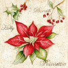 CraftEmotions Napkins - Poinsettia
