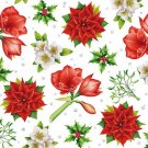 CraftEmotions Napkins - Christmas Flowers White
