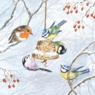 CraftEmotions Napkins - Winter Birds