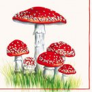 CraftEmotions Napkins - Fly Agaric