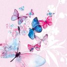 CraftEmotions Napkins - Butterflies Magic Lilac