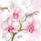 CraftEmotions Napkins - Orchids Lilac