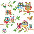 CraftEmotions Napkins - Owls in Summerland