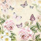 CraftEmotions Napkins - Botanical Cream