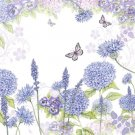 CraftEmotions Napkins - Purple Wildflowers