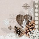 CraftEmotions Napkins - Winter Nature