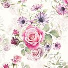 CraftEmotions Servetter / Napkins - Roses Pink and Lilac