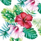 CraftEmotions Servetter / Napkins - Hibiscus Floral