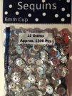 Sequins Cup Regular - Silver (1200 pack)