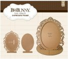 BoBunny Essentials Laser-Cut Chipboard Frame - Oval Ornate