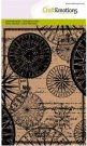 CraftEmotions A6 Clearstamp Set - Background Compass