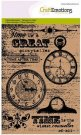 CraftEmotions A6 Clearstamp Set - Background Clocks