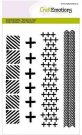 Craftemotions A6 Clearstamp Set - Crosses And Fishbone