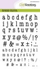 Craftemotions A6 Clearstamps - Typewriter Lowercase Alphabet