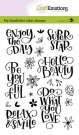 CraftEmotions A6 Clearstamps - Enjoy the Day Super Star Handletter