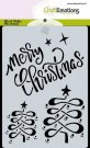 CraftEmotions A6 Mask Stencil - Merry Christmas