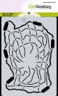 CraftEmotions A6 Mask Stencil - Ocean Broken Fishing Net