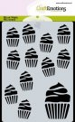 CraftEmotions A6 Mask Stencil - Cupcakes