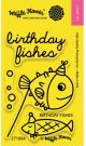 Waffle Flower Crafts Clear Stamps - Birthday Fishes