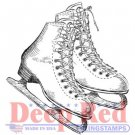 Deep Red Cling Stamp - Ice Skates