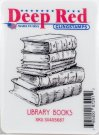 Deep Red Cling Stamp - Library Books