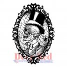 Deep Red Cling Stamp - Cobweb Cameo