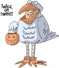 Art Impressions Halloween Cling Rubber Stamp Set - Tweeter