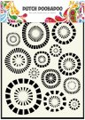 Dutch Doobadoo A5 Mask Art Stencil - Circles