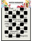 Dutch Doobadoo A5 Mask Art Stencil - Script Blocks