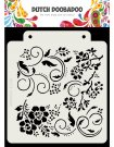 Dutch Doobadoo A5 Mask Art Stencil - Flowers and Swirls