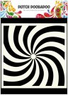 "Dutch Doobadoo 6""x6"" Mask Art Stencil - Spiral"