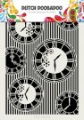 Dutch Doobadoo A4 Dutch Mask Art - Clocks & Stripes