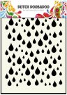 Dutch Doobadoo A6 Mask Art Stencil - Rain Drops