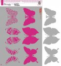 Pronty A4 Mask Stencil - Butterflies