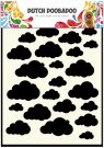 Dutch Doobadoo A5 Mask Art Stencil - Clouds